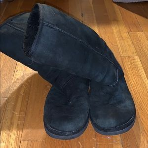 Tall black UGG boots